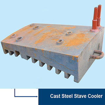 Blast Furnace Cast Steel Cooling Stave